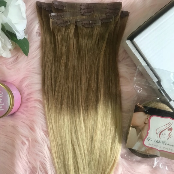 Accessories Hair Extensions Ombre Clip On Human Hair Poshmark